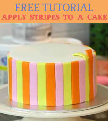 apply stripes to a cake