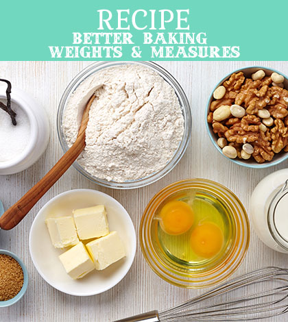better baking weights & measures