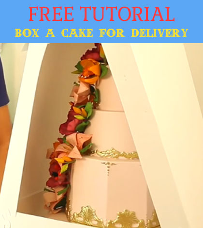 box a cake for delivery