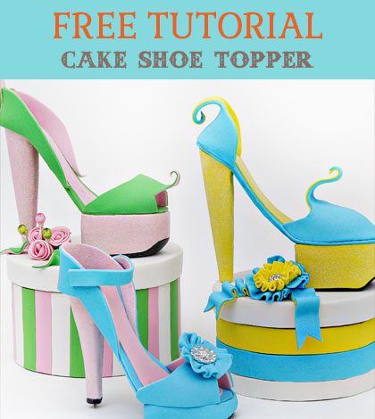 cake shoe topper