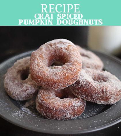 chai spiced pumpkin doughnuts