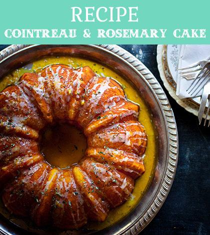 cointreau & rosemary cake