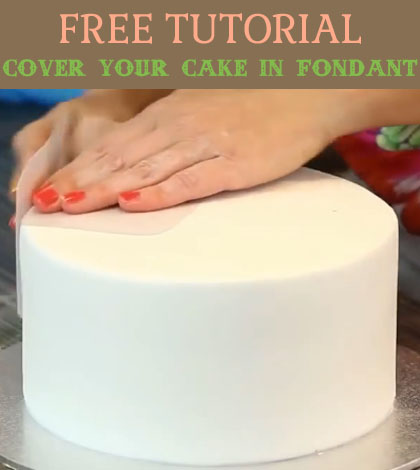 cover your cake in fondant