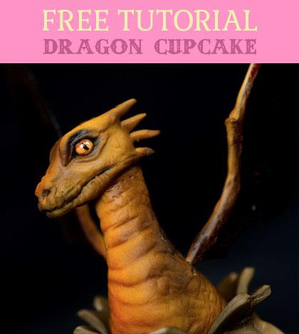 dragon cupcake