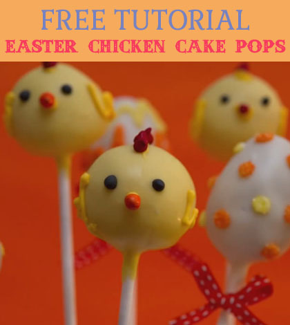 easter chicken cake pops