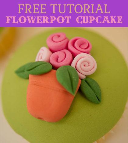 flowerpot cupcake