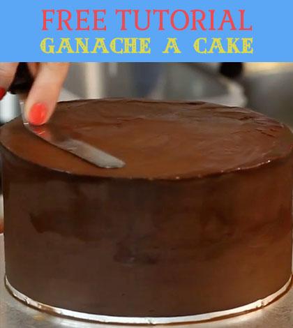 ganache a cake