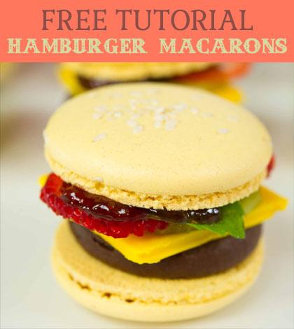 hamburger macarons