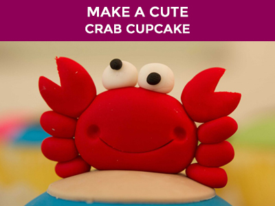 cute kids crab cupcake