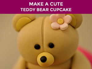 cute teddy bear cup cake