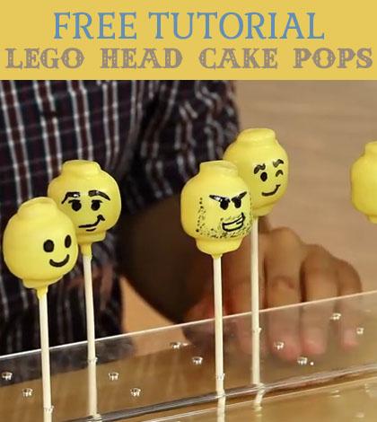 lego head cake pops