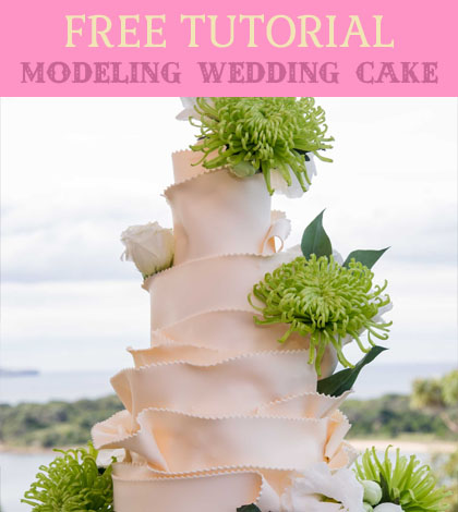 modeling wedding cake