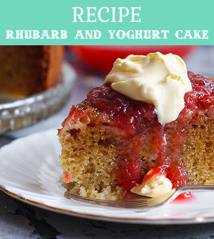 rhubarb and yoghurt cake