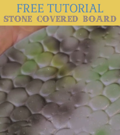 stone covered board