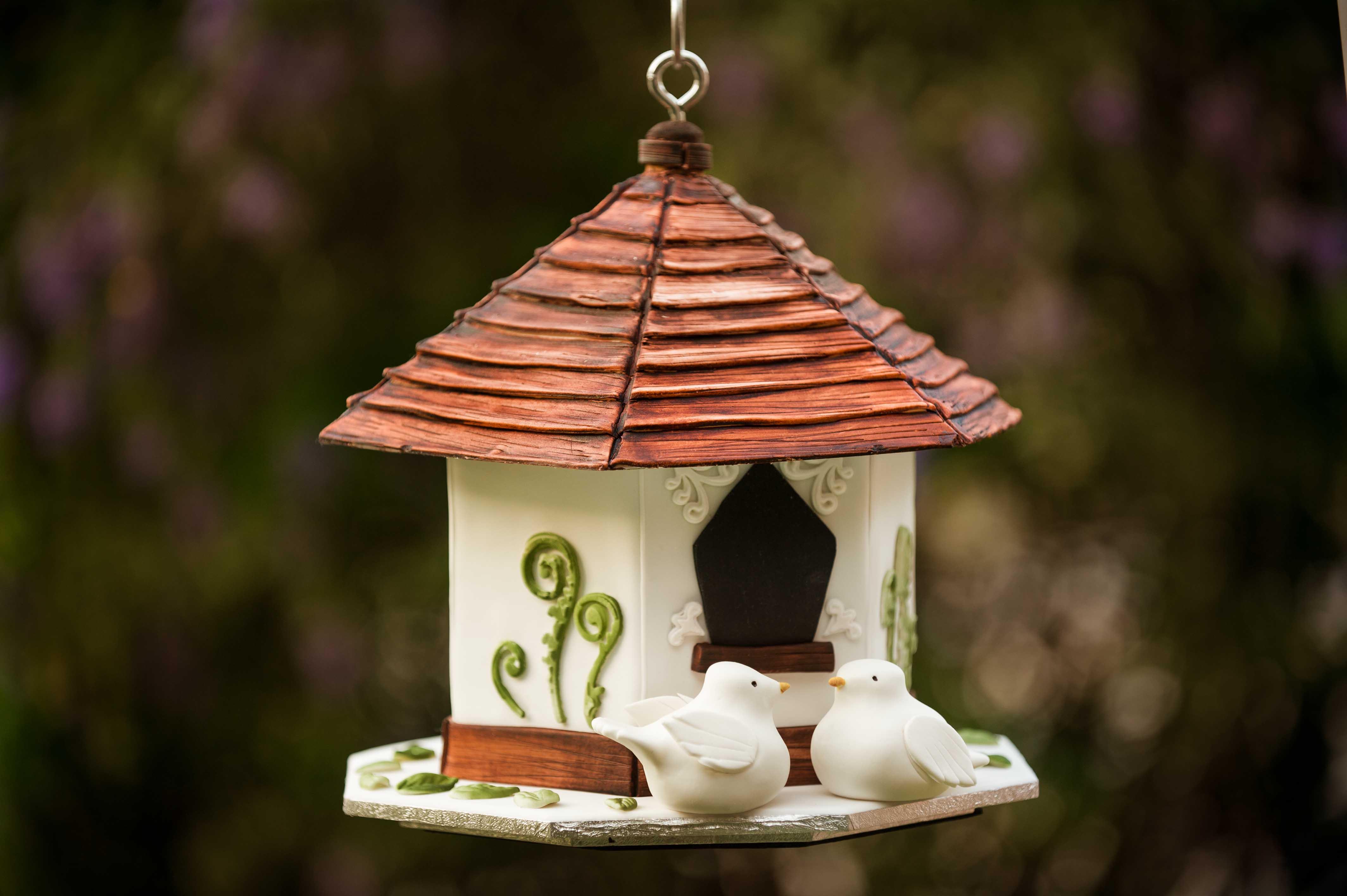 How to make a bird house - How To Make A Hanging Birdhouse Cake