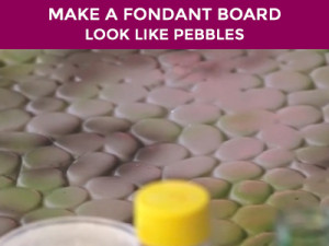 how to make your fondant covered board look like stone