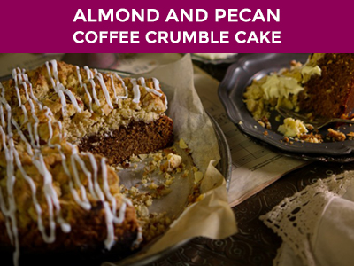 almond and pecan coffee crumble cake