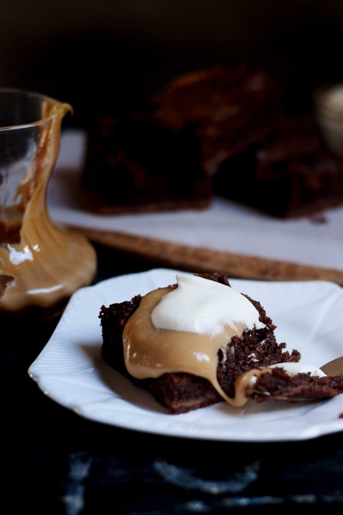 Chocolate Brownies with Dulche De Luche