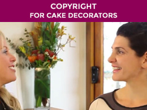 copy right law sand cake decorators