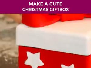how to make a cake gift box