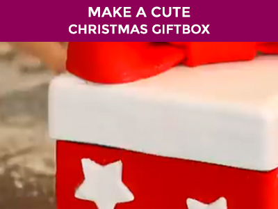 how to make a cake gift box