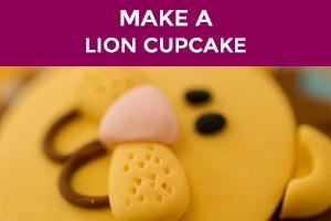 how to make a lion cupcake