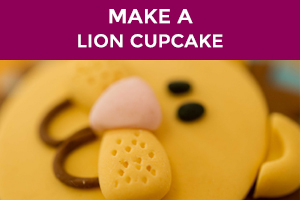 how to make a lion cupcake
