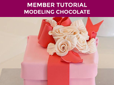 make a gorgeous modelling chocolate present box