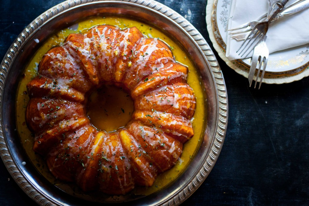 Cointreau and Rosemary Cake