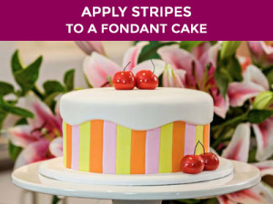 Stripes to a Fondant Cake