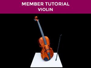 make a violin cake