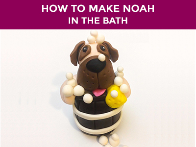 noah in the bath cake topper