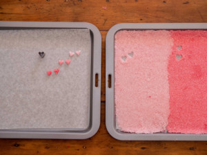 how to make ombre sugarhearts
