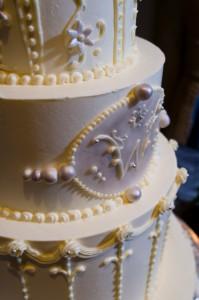 Elegant Classic Wedding Cake Detail