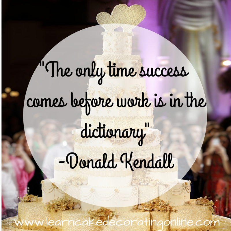 _The only time success comes before work