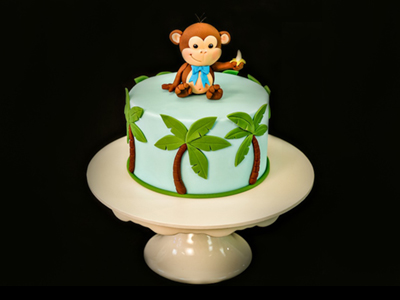 cheeky monkey cake topper