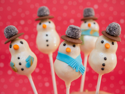Ruldolph and Snowmen Cake Pops