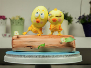 Lovebirds Cake