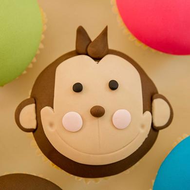 cheeky monkey cupcake