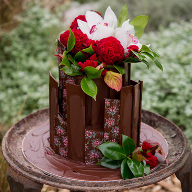 chocolate shard cake decorating class tutorial