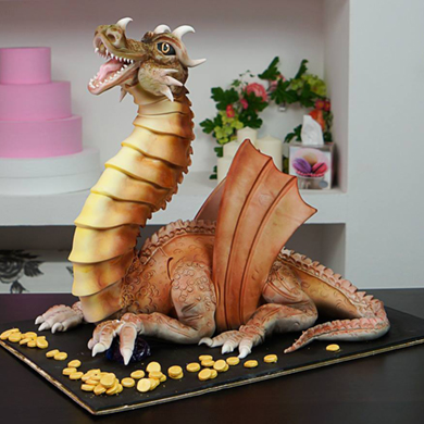 dragon cake decorating class tutorial