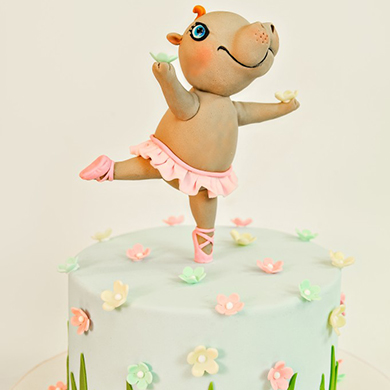 Henrietta the hippo cake topper cake decorating class tutorial