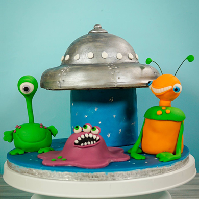 Outer Space Cake decorating class tutorial