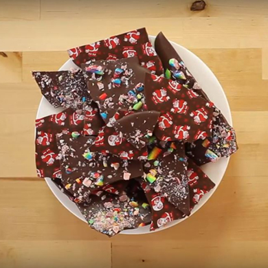 candy cane bark cake decorating class tutorial