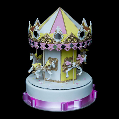 carousel cake topper cake decorating class tutorial