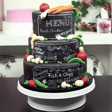 chalkboard cake decorating class tutorial