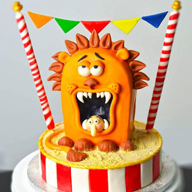 circus lion cake decorating class tutorial