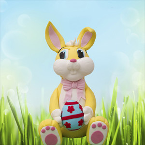 3D Easter Bunny Cake