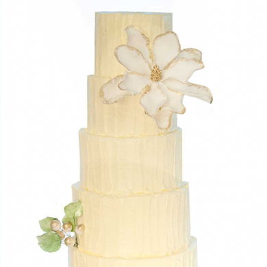 magnolia buttercream cake
