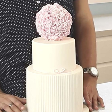 Flower Ball Cake Topper